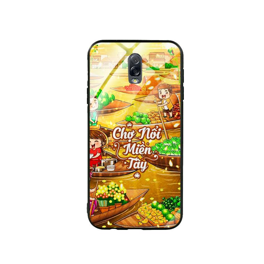 Ốp Lưng Kính Cường Lực cho điện thoại Samsung Galaxy J7 Plus - Chợ Nổi Miền Tây
