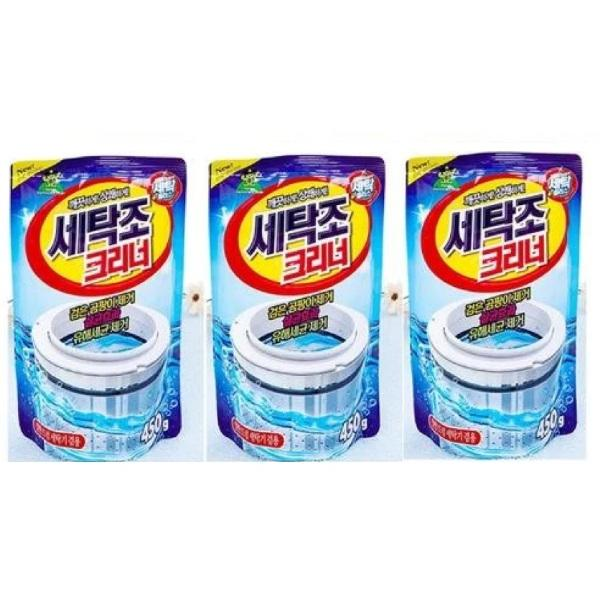 Bộ 3 gói bột tẩy lồng máy giặt Hàn Quốc 450g - 1044710 , 5951397210006 , 62_11086855 , 180000 , Bo-3-goi-bot-tay-long-may-giat-Han-Quoc-450g-62_11086855 , tiki.vn , Bộ 3 gói bột tẩy lồng máy giặt Hàn Quốc 450g