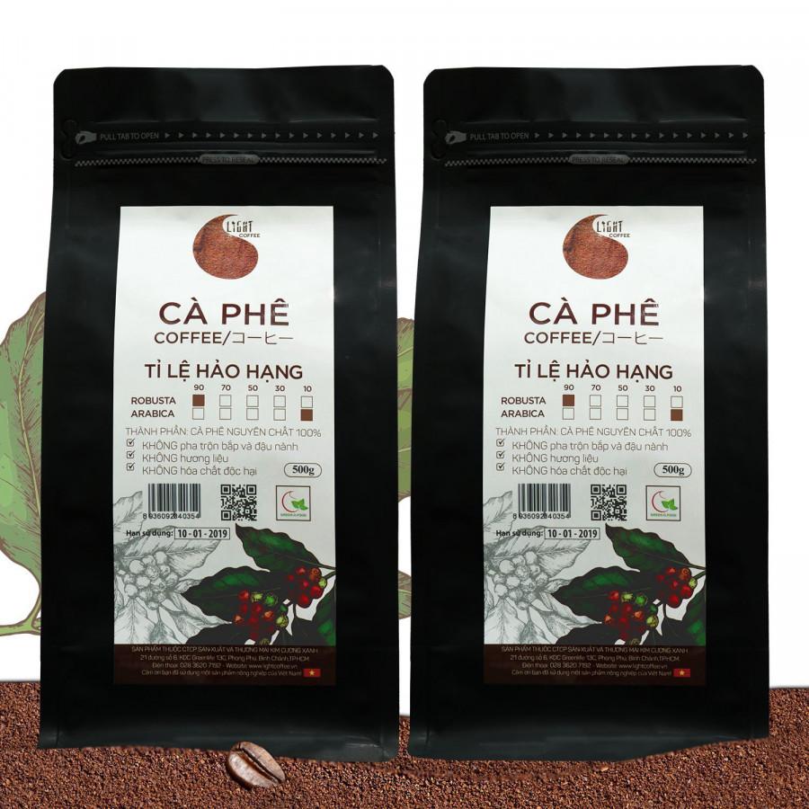 Combo 2 gói Cà phê bột nguyên chất 100% Tỉ lệ Hảo Hạng - 90% Robusta + 10% Arabica - Light coffee - gói 500g - 1398911 , 2460659617628 , 62_7001911 , 710000 , Combo-2-goi-Ca-phe-bot-nguyen-chat-100Phan-Tram-Ti-le-Hao-Hang-90Phan-Tram-Robusta-10Phan-Tram-Arabica-Light-coffee-goi-500g-62_7001911 , tiki.vn , Combo 2 gói Cà phê bột nguyên chất 100% Tỉ lệ Hảo Hạng