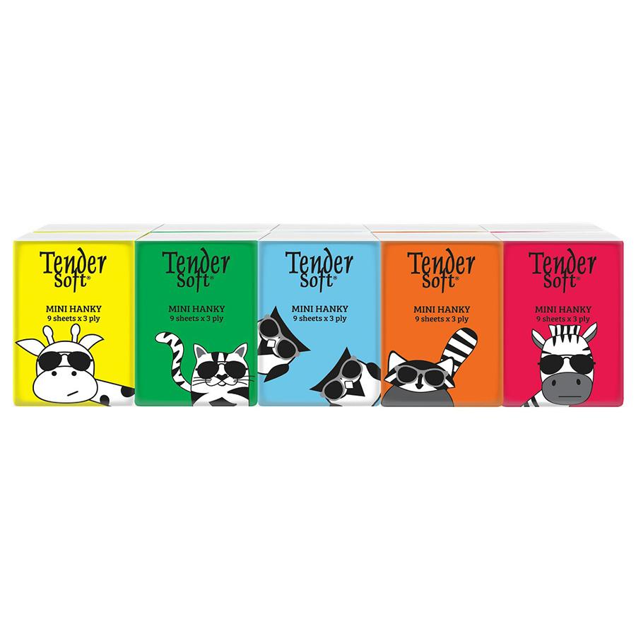 Lốc 10 Gói Khăn Giấy Bỏ túi Tender Soft 3 Lớp (9 Tờ/Gói) - 9556710004827,62_260293,26000,tiki.vn,Loc-10-Goi-Khan-Giay-Bo-tui-Tender-Soft-3-Lop-9-To-Goi-62_260293,Lốc 10 Gói Khăn Giấy Bỏ túi Tender Soft 3 Lớp (9 Tờ/Gói)