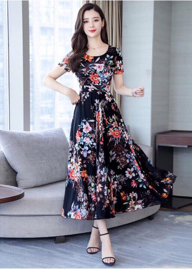 Đầm Xòe Voan Hoa Tiết Mùa Hè - KRTK6280Q
