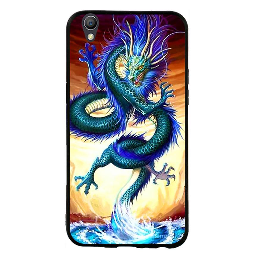 Ốp lưng nhựa cứng viền dẻo TPU cho điện thoại Oppo Neo 9 -Dragon 10