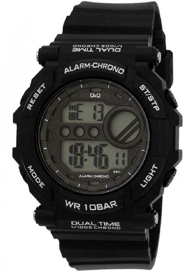 Đồng hồ điện tử nam QQ Citizen múi giờ kép  M136J002Y dây cao su thương hiệu Nhật Bản