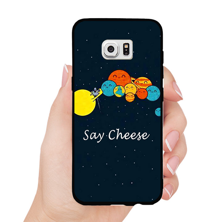 Ốp lưng nhựa cứng viền dẻo TPU cho Samsung Galaxy S7 - Say Cheese