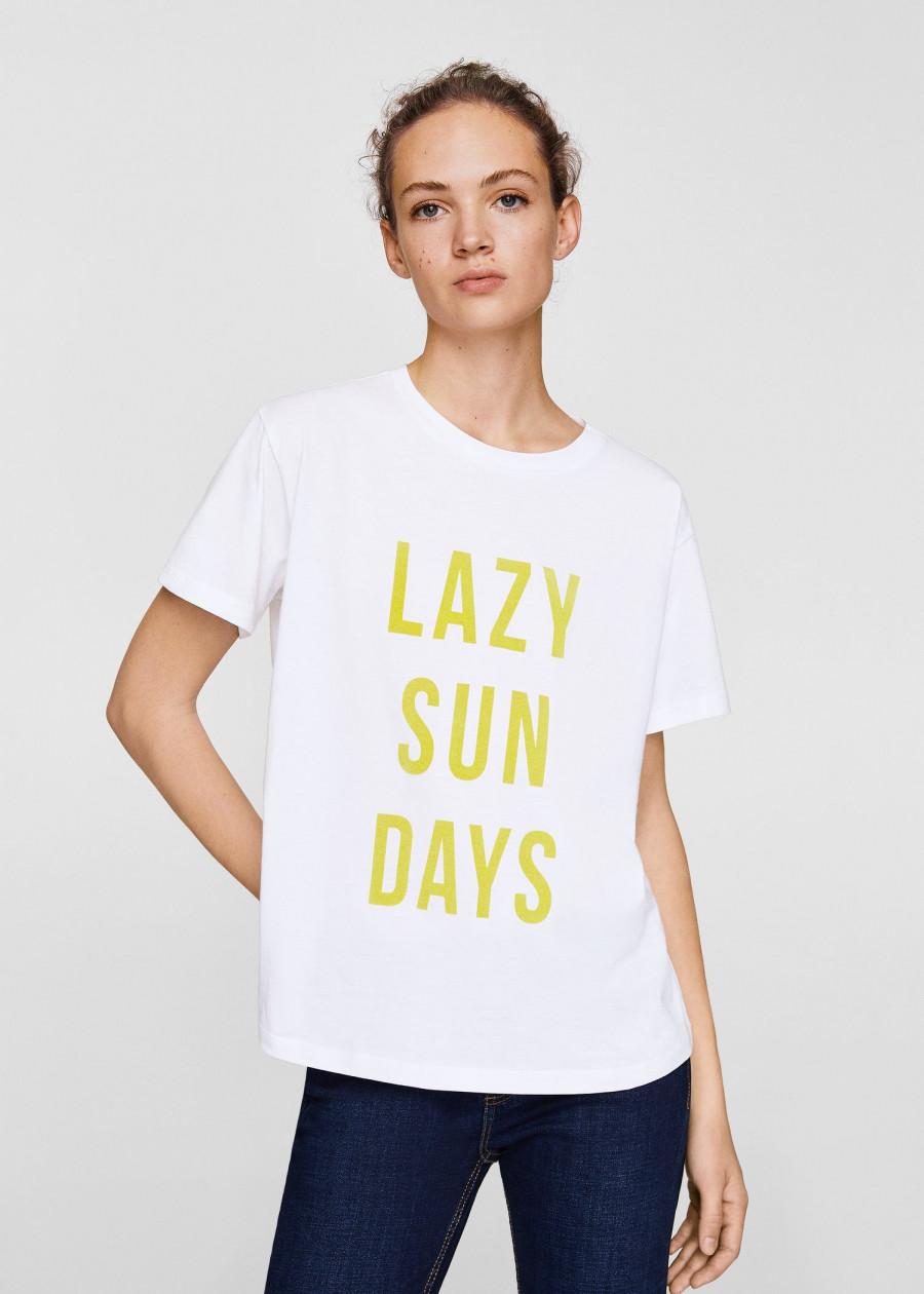 Áo Thun Nữ T-shirt Lazy Mango 23003658 - Mã Màu 1