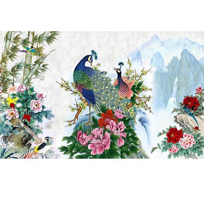 Tranh dán tường 3D vải lụa cao cấp hình đôi chim công kim tiền phú quý vinh hoa - ĐC - 2151608 , 6901800180135 , 62_13740450 , 350000 , Tranh-dan-tuong-3D-vai-lua-cao-cap-hinh-doi-chim-cong-kim-tien-phu-quy-vinh-hoa-DC-62_13740450 , tiki.vn , Tranh dán tường 3D vải lụa cao cấp hình đôi chim công kim tiền phú quý vinh hoa - ĐC