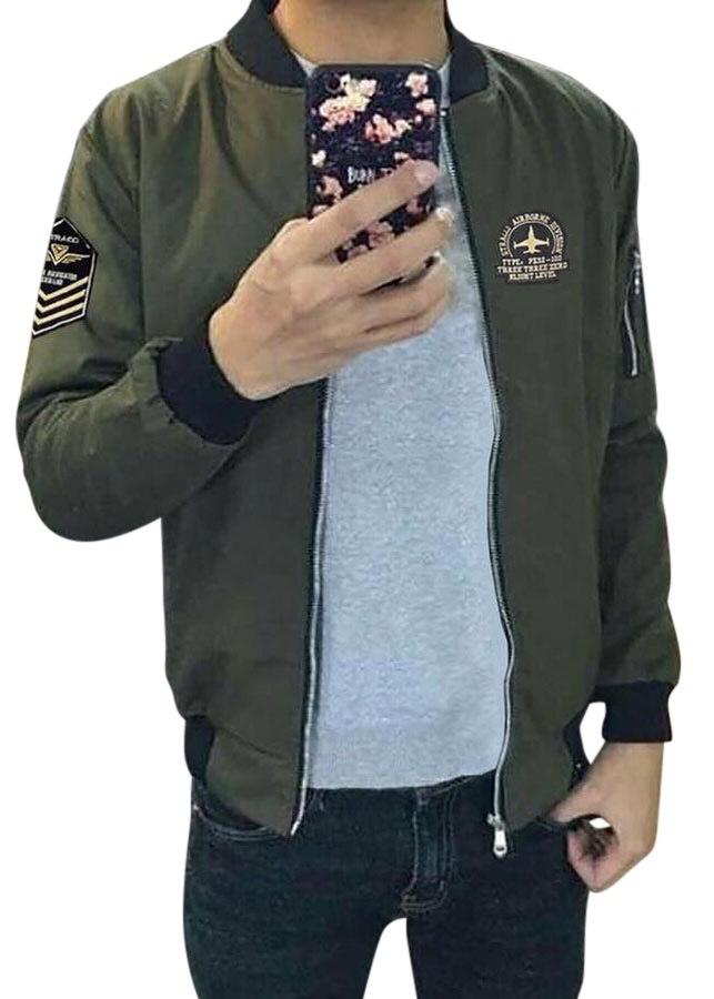 áo khoác nam TCS xanh đen logo ngực cánh tay