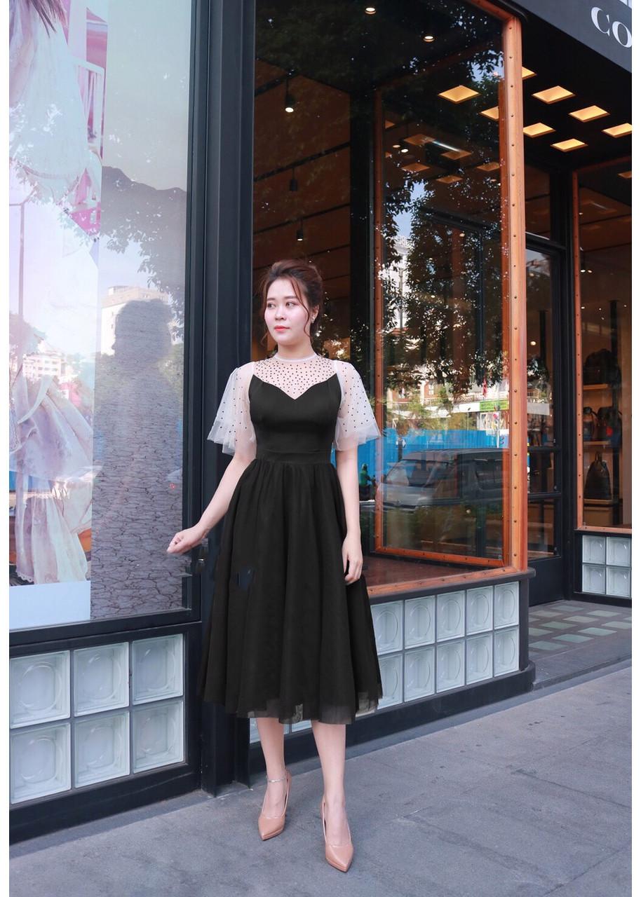 1053977556994 - đầm xòe nữ thiết kế thời trang