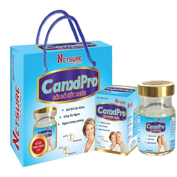 Lốc 6 lọ Yến Netsure cao cấp Canxipro bổ sung dinh dưỡng (12% yến, 70ml/lọ)