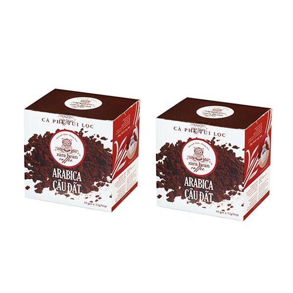 Cà phê túi lọc Arabica Cầu Đất (2 hộp x 10 gói) - 1560610 , 4491669740059 , 62_10131746 , 264000 , Ca-phe-tui-loc-Arabica-Cau-Dat-2-hop-x-10-goi-62_10131746 , tiki.vn , Cà phê túi lọc Arabica Cầu Đất (2 hộp x 10 gói)