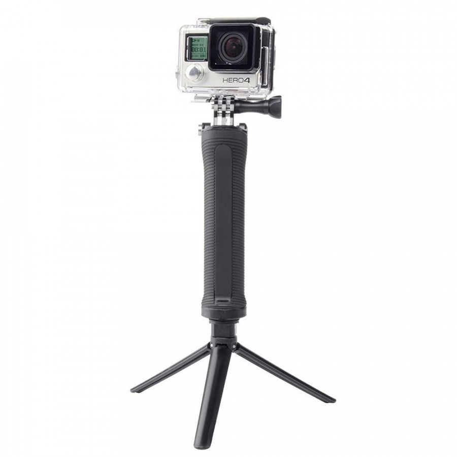 Go Pro Selfie Stick Waterproof 3 Way Extendable Camera Handle Foldable Tripod Adjustable Mount for Gopro Hero 5 6 4