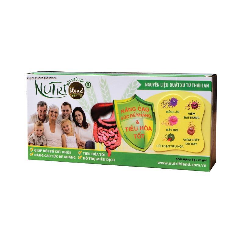 Bột ngũ cốc NUTRIBLEND_ Hỗ trợ điều trị viêm đại tràng, viêm loét dạ dày - Hộp 16 gói