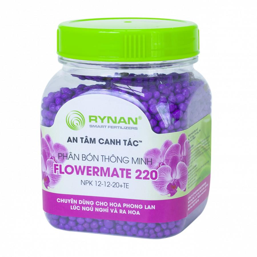 Phân Bón Thông Minh Rynan Flowermate 220 (Hũ 150g) - Giúp Phong Lan Ra Hoa, Trổ Đồng Loạt, Lâu Tàn