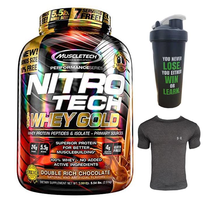 Combo Sữa tăng cơ Nitro Tech 100% Whey Gold của Muscle tech hương socola hộp 76 lần dùng  Bình lắc 600 ml (Màu Ngẫu Nhiên)... - 1099820 , 3090548013515 , 62_3918107 , 1900000 , Combo-Sua-tang-co-Nitro-Tech-100Phan-Tram-Whey-Gold-cua-Muscle-tech-huong-socola-hop-76-lan-dung-Binh-lac-600-ml-Mau-Ngau-Nhien...-62_3918107 , tiki.vn , Combo Sữa tăng cơ Nitro Tech 100% Whey Gold của