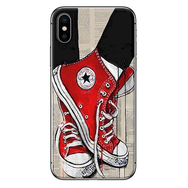Ốp Lưng Dành Cho iPhone X - Mẫu  Giày Đỏ
