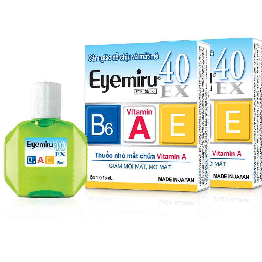 Combo 2 Thuốc Nhỏ Mắt Eyemiru 40Ex (15ml/Lọ)