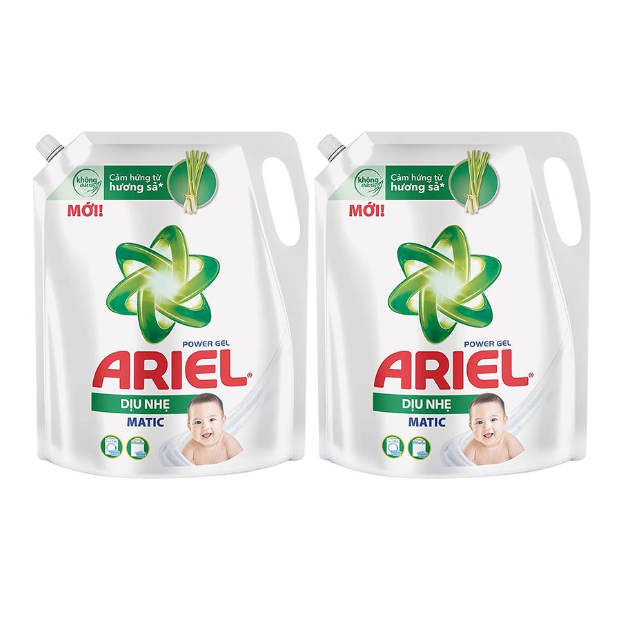 Combo 2 Nước Giặt Ariel Cho Da Nhạy Cảm (2.15Kg/ Túi)