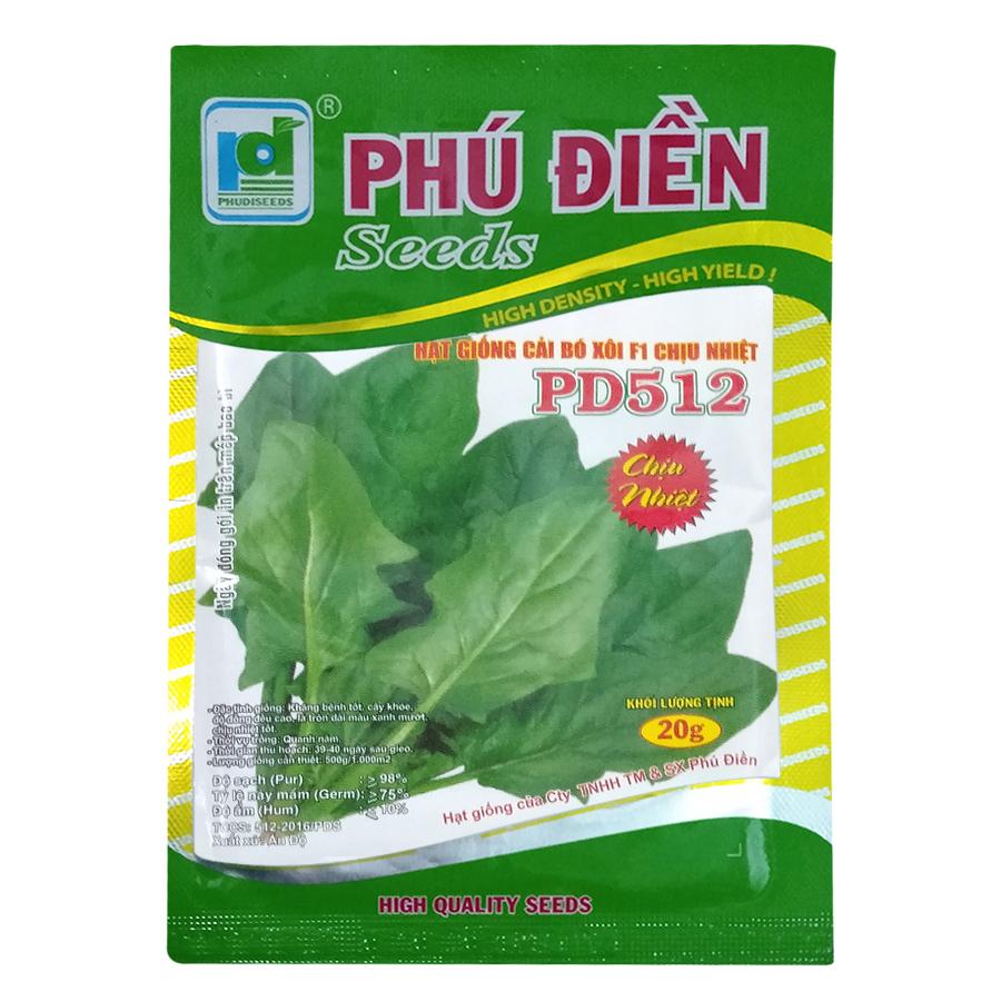 Hạt Giống Cải Bó Xôi Chịu Nhiệt - Spinacia oleracea (20g)