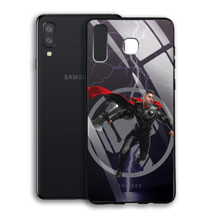 Ốp Lưng Kính Cường Lực cho điện thoại Samsung Galaxy A8 Star - 03012 0540 GOD01 - Hàng Chính Hãng