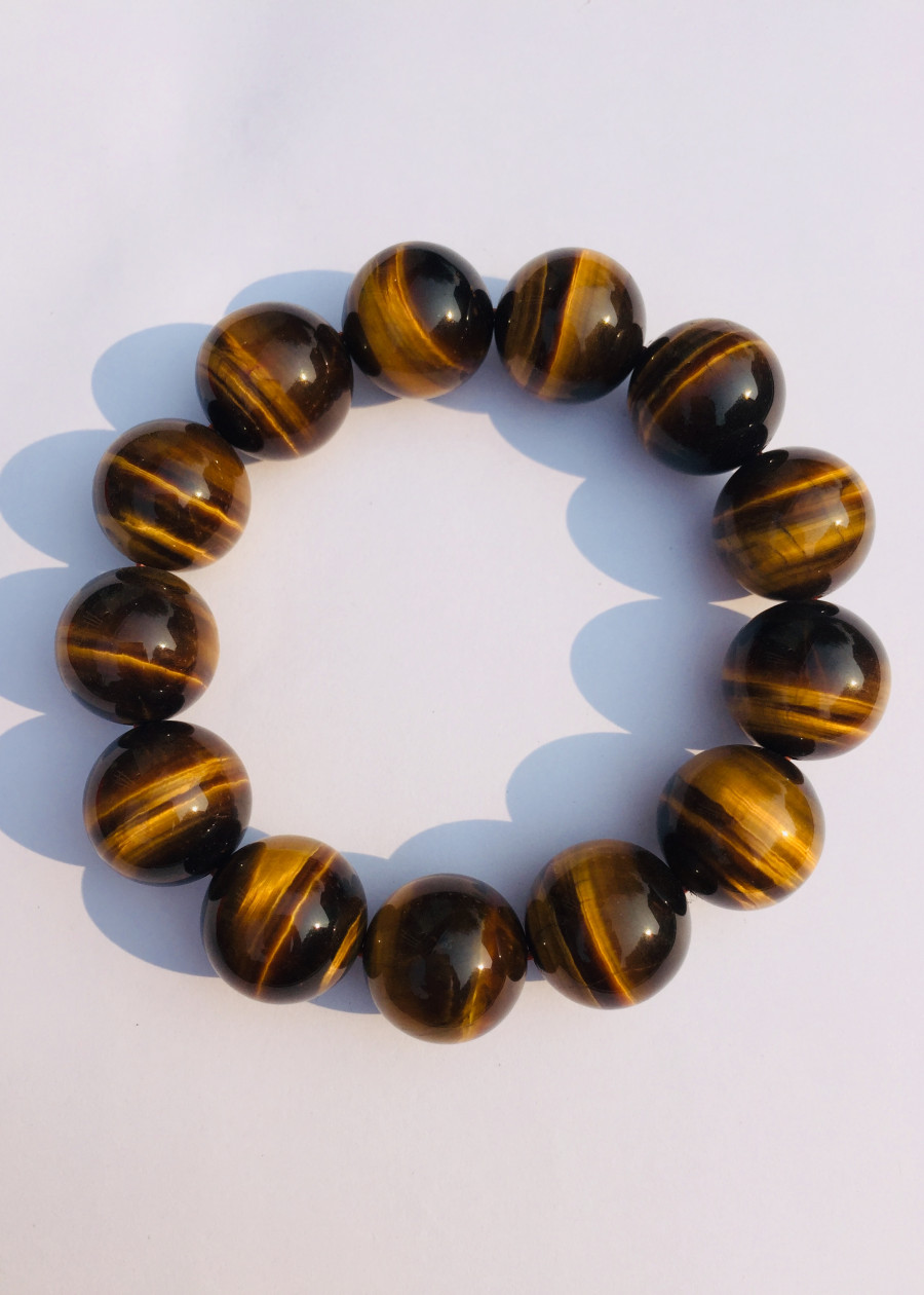 Vòng Tay Đá Mắt Hổ Nâu Vàng 16 ly - NEJA Gemstones