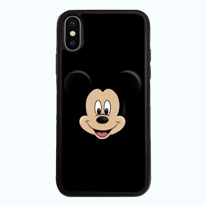 Ốp Lưng Kính Cường Lực Dành Cho Điện Thoại iPhone X Chuột Mickey