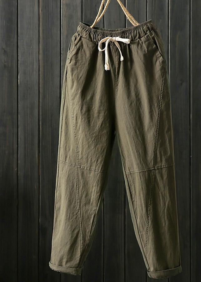 Quần baggy Nam lưng thun vải đũi thiết kế độc đáo 00115