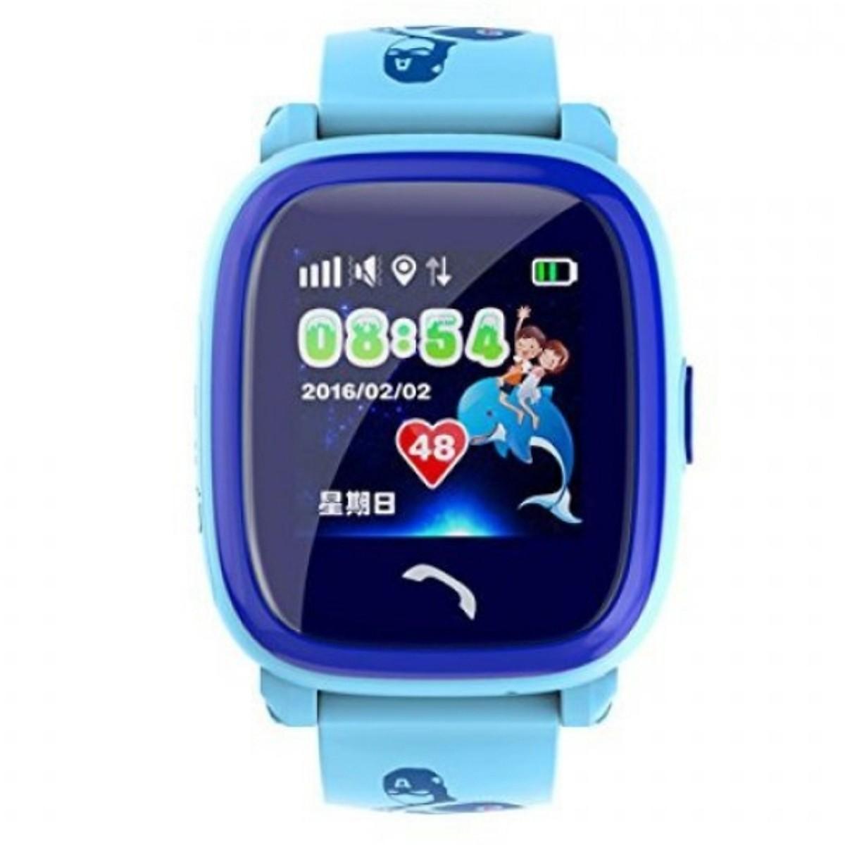 Đồng hồ thông minh định vị trẻ em DF25( xanh) - tặng vòng tay Ruby