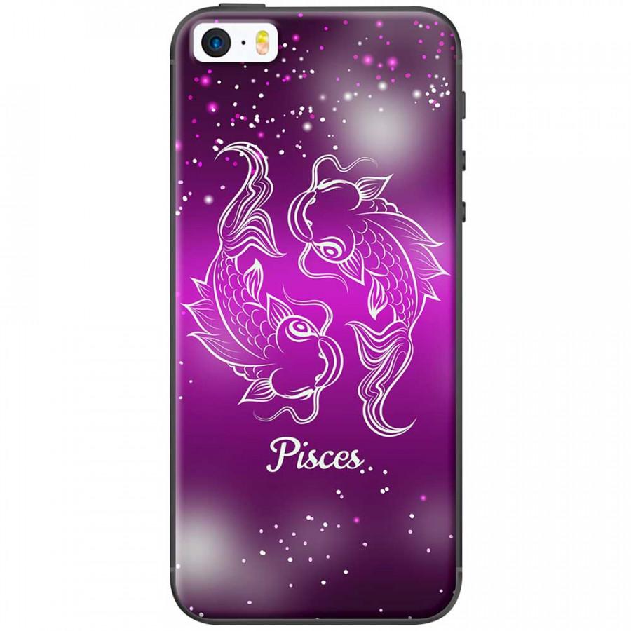 Ốp lưng  dành cho iPhone 5, iPhone 5s mẫu Cung hoàng đạo Pisces (hồng)