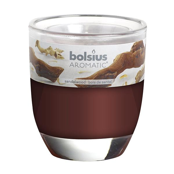 Ly nến thơm Bolsius Sandalwood BOL7549 295g (Gỗ đàn hương)