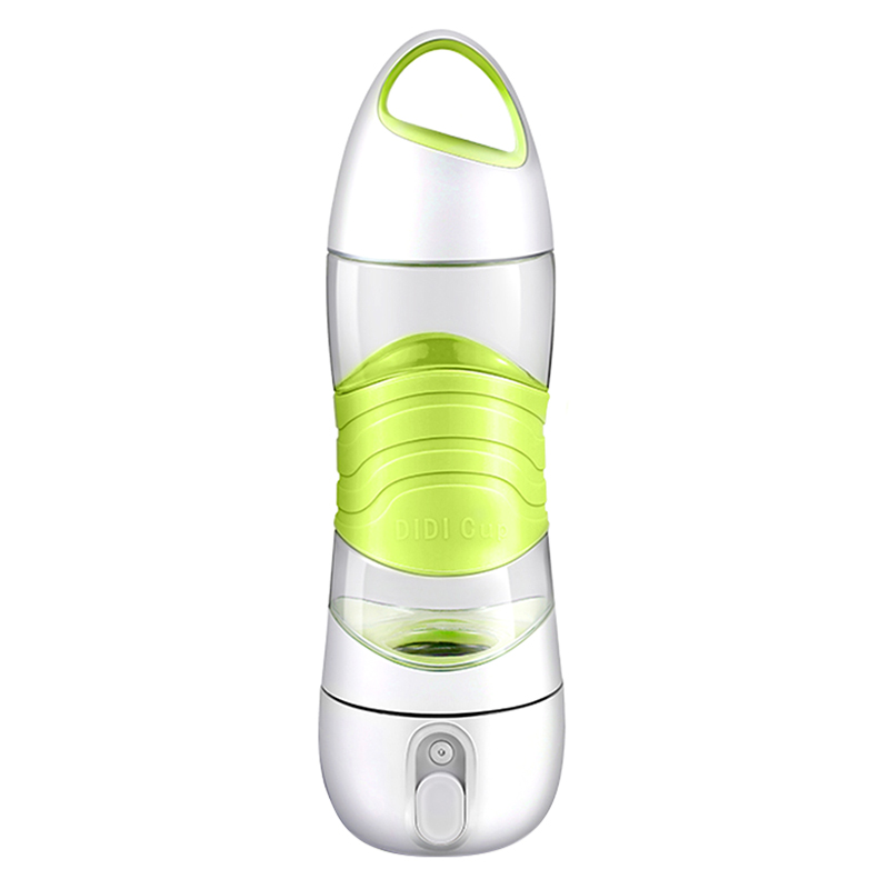 4 In 1 Smart Water Bottle DIDI Sports Beauty Spray Cup Moisturizing Skin SOS Warning Light 2 Hours Reminder Drinking - Green