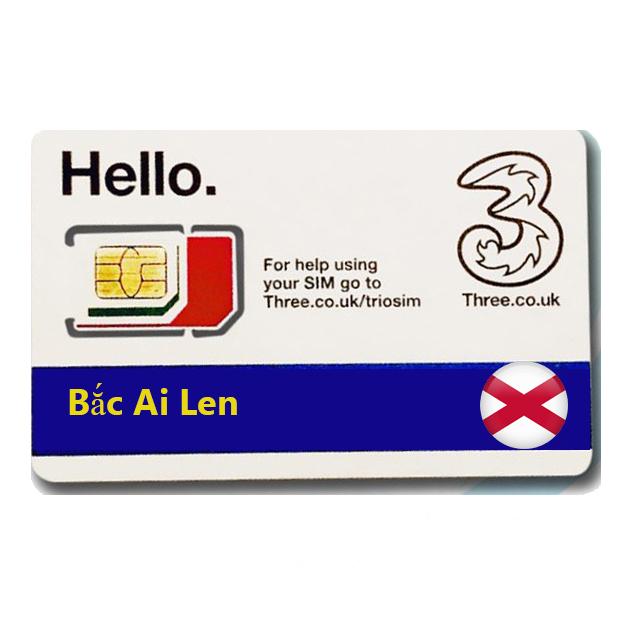 Sim Du lịch Bắc Ai Len - North Ireland 4g tốc độ cao