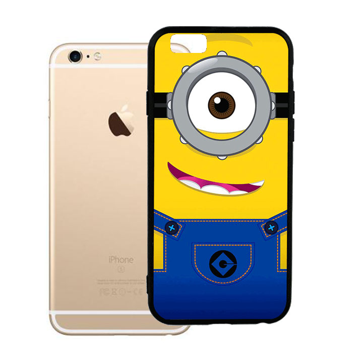 Ốp lưng viền TPU cho Iphone 6 Plus - Minion 01