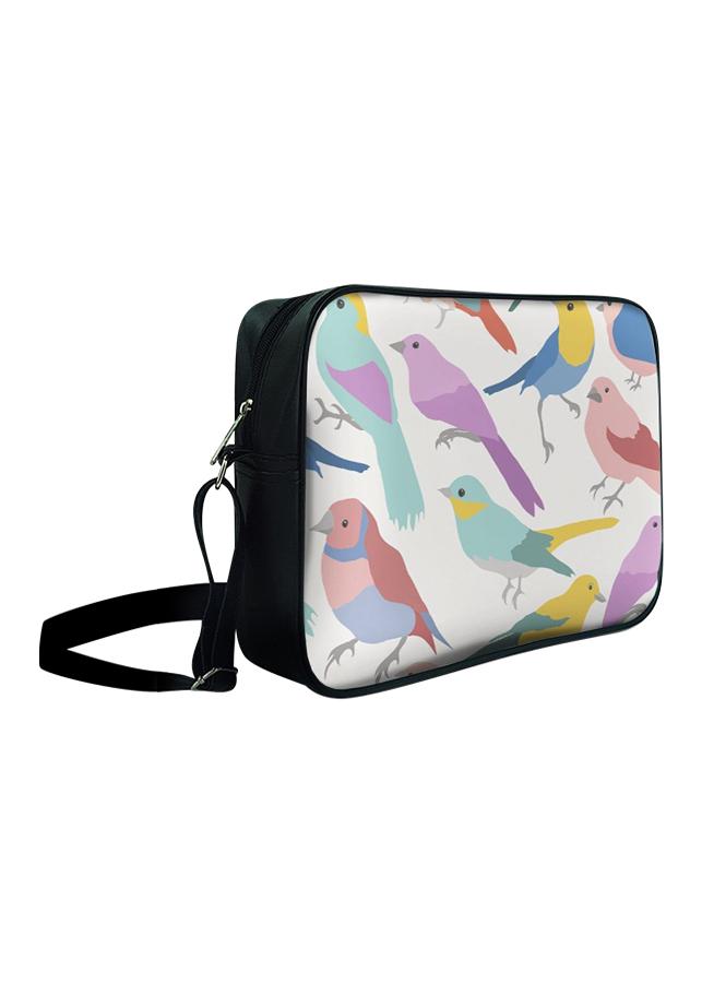 Túi Đeo Chéo Hộp Unisex Chim Sẻ Nhiều Màu - TCHT039