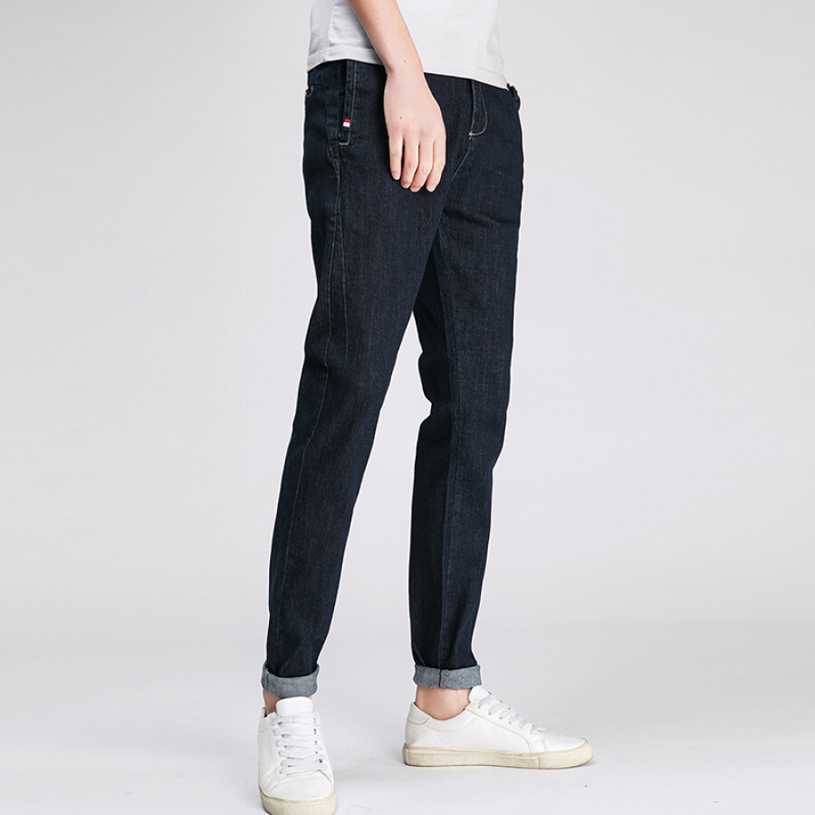 MagicPower daily simple style primary color wash trend small feet jeans MJS18770 dark blue 29