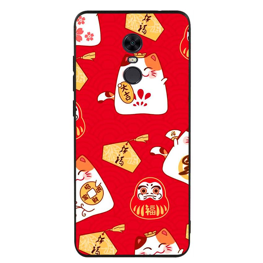 Ốp lưng nhựa cứng viền dẻo TPU cho điện thoại Xiaomi Redmi 5 Plus - Mèo May Mắn 05