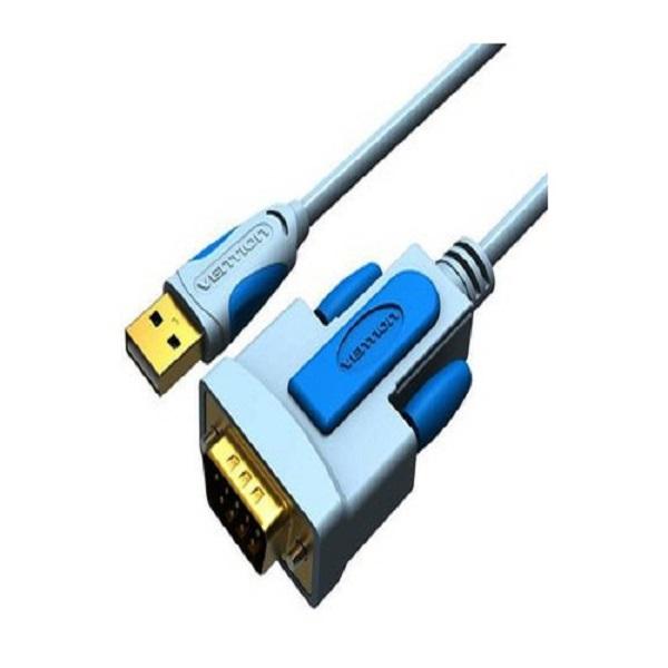 Cáp chuyển đổi USB to RS232 dài 1.5m Vention VAS-C02 chính hãng đầu nối mạ vàng 24k