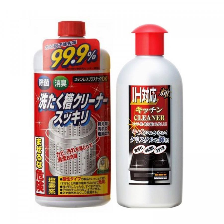 Combo Dung dịch tẩy rửa vệ sinh bếp từ cao cấp 300g + Nước tẩy vệ sinh lồng máy giặt Rocket nội địa Nhật Bản - 1401471 , 2271708565544 , 62_8440293 , 280000 , Combo-Dung-dich-tay-rua-ve-sinh-bep-tu-cao-cap-300g-Nuoc-tay-ve-sinh-long-may-giat-Rocket-noi-dia-Nhat-Ban-62_8440293 , tiki.vn , Combo Dung dịch tẩy rửa vệ sinh bếp từ cao cấp 300g + Nước tẩy vệ sinh l