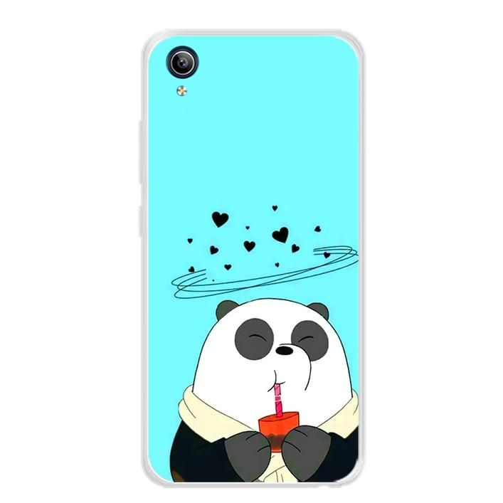 Ốp lưng dẻo cho điện thoại Vivo Y91C - 0033 PANDA04 - Hàng Chính Hãng