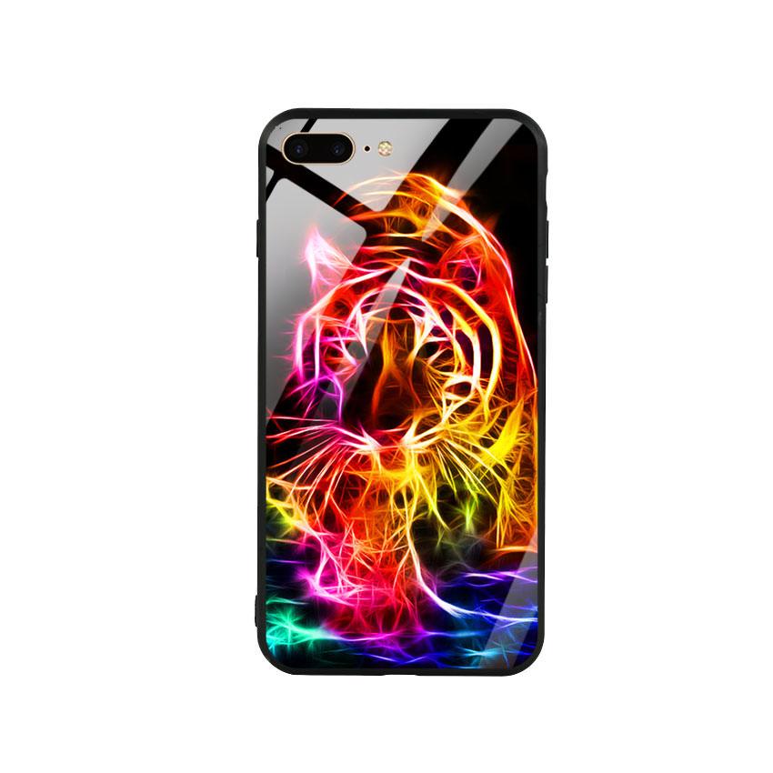 Ốp lưng kính cường lực cho điện thoại Iphone 7 Plus / 8 Plus - Tiger