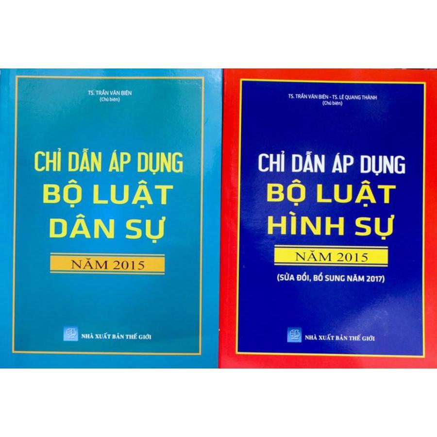 Bộ sách Chỉ dẫn áp dụng Bộ luật dân sự 2015 và Chỉ dẫn áp dụng Bộ luật hình sự 2015 sửa đổi bổ sung 2017 - 1108044 , 1810675466839 , 62_7312227 , 885000 , Bo-sach-Chi-dan-ap-dung-Bo-luat-dan-su-2015-va-Chi-dan-ap-dung-Bo-luat-hinh-su-2015-sua-doi-bo-sung-2017-62_7312227 , tiki.vn , Bộ sách Chỉ dẫn áp dụng Bộ luật dân sự 2015 và Chỉ dẫn áp dụng Bộ luật hìn