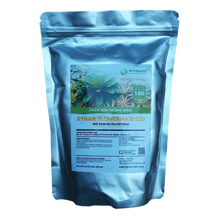 Phân Bón Thông Minh Rynan Flowermate 230 (Túi lọc 600g) - Dùng Cho Các Loại Hoa Kiểng