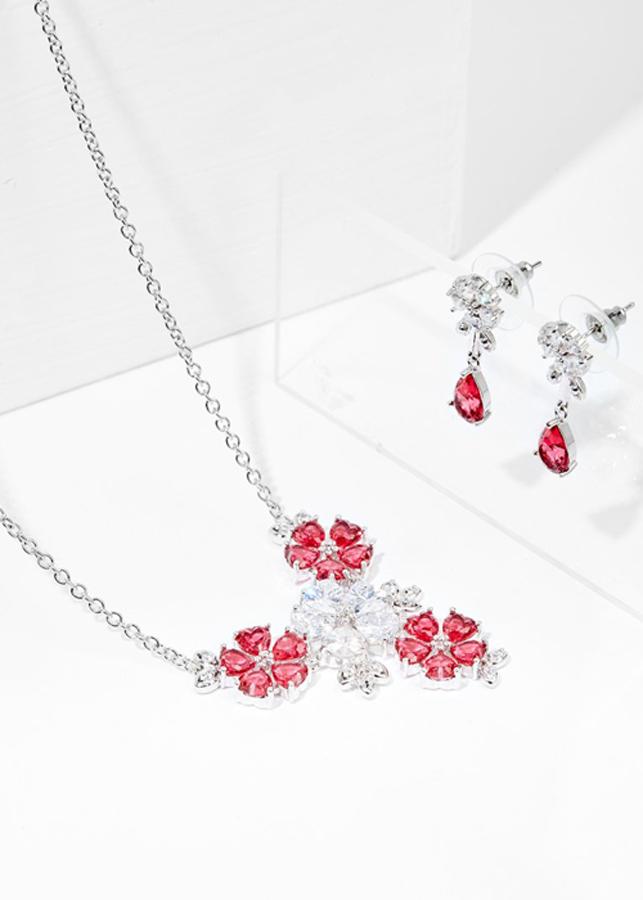 Bộ Trang Sức Nữ Sắc Xuân Đính Đá Ruby Sala - Đỏ