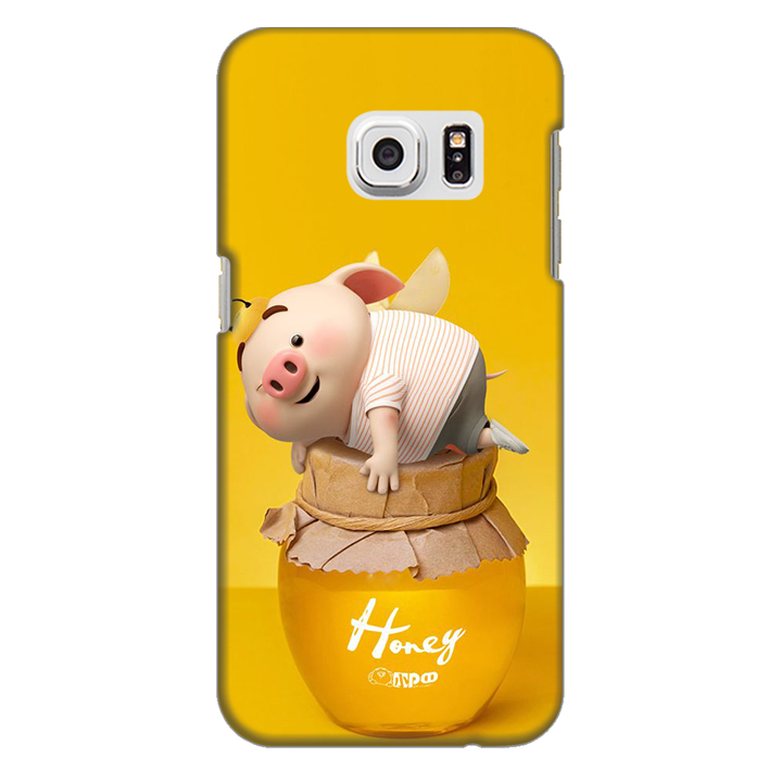 Ốp lưng nhựa cứng nhám dành cho Samsung Galaxy S7 in hình Heo Cute