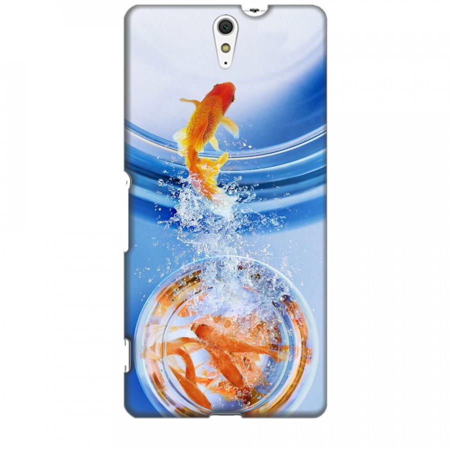 Ốp lưng dành cho điện thoại SONY C5 ULTRA Cá Betta Vàng