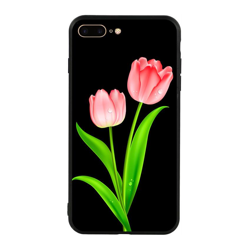 Ốp lưng viền TPU cho điện thoại Iphone 7 Plus/8 Plus - Tulip 01