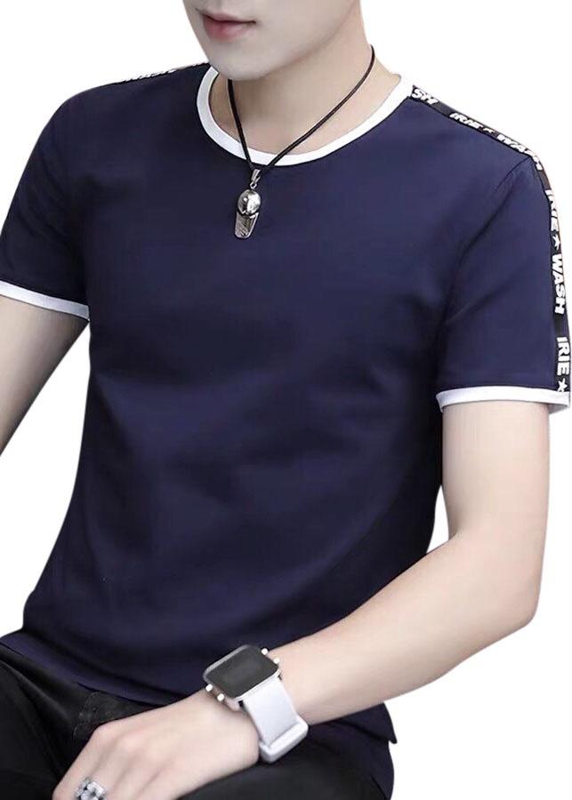áo thun nam đen cao cấp đen viền chữ wash