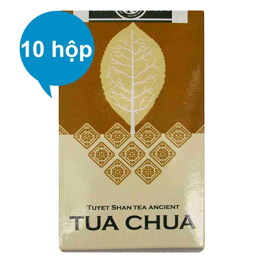 Combo 10 Chè Handmade Tuyết Shan Cổ Thụ Dien Bien Food (100g / Hộp)