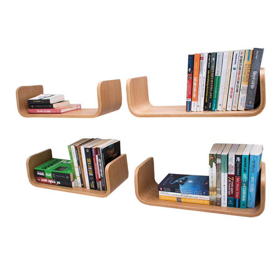 Kệ sách treo tường gỗ uốn cong C49 (Set 4) - 1226615 , 8832307566093 , 62_7830284 , 1628000 , Ke-sach-treo-tuong-go-uon-cong-C49-Set-4-62_7830284 , tiki.vn , Kệ sách treo tường gỗ uốn cong C49 (Set 4)