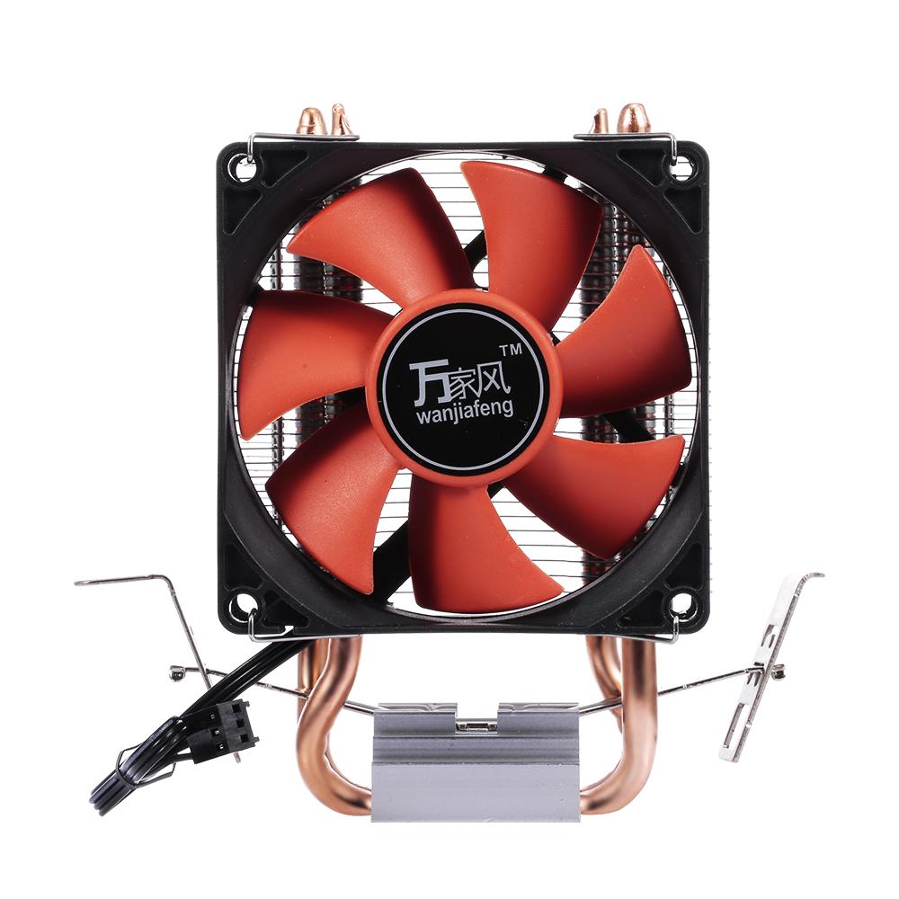 Hydraulic CPU Cooler Heatpipe Fans Quiet Dual Tube Heatsink Radiator for Intel /AMD Red