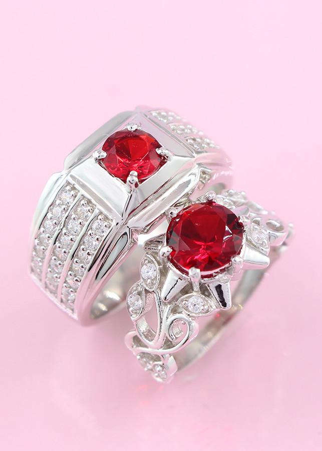 Nhẫn đôi bạc nhẫn cặp bạc đính đá đỏ ND0192 - 1880046 , 8166480494332 , 62_10170367 , 750000 , Nhan-doi-bac-nhan-cap-bac-dinh-da-do-ND0192-62_10170367 , tiki.vn , Nhẫn đôi bạc nhẫn cặp bạc đính đá đỏ ND0192